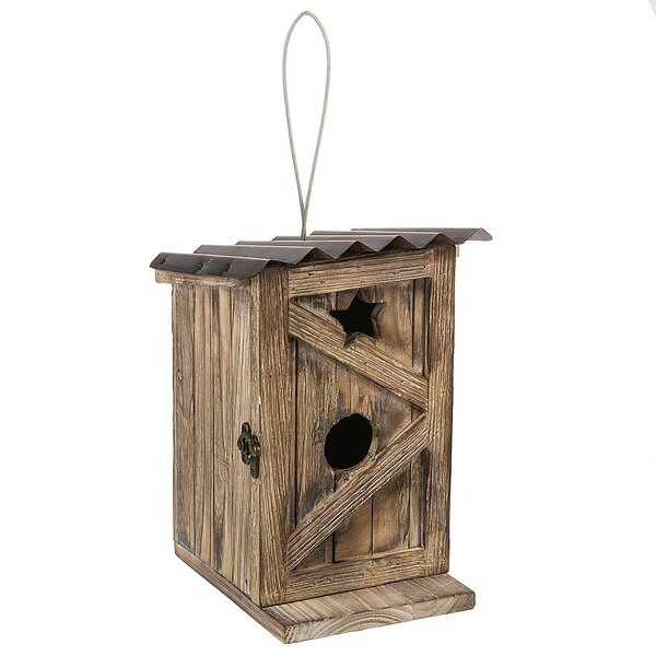 Functional Outhouse 10.5 in x 7 in x 7.5 in Birdhouse by Midwest Seasons