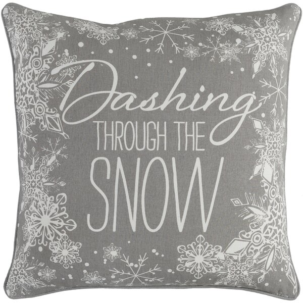 Drees Snow Cotton Throw Pillow Cover by The Holiday Aisle