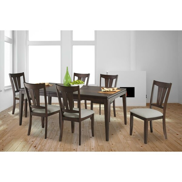 Bales 7 Piece Extendable Solid Wood Dining Set by Darby Home Co