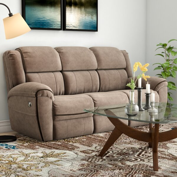 Modern Collection Genevieve Double Motion Reclining Sofa by Red Barrel Studio by Red Barrel Studio