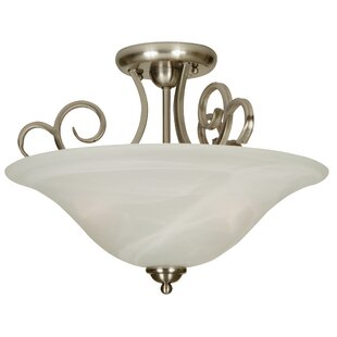 Clearance Jeppesen 3-Light Semi Flush Mount By Alcott Hill