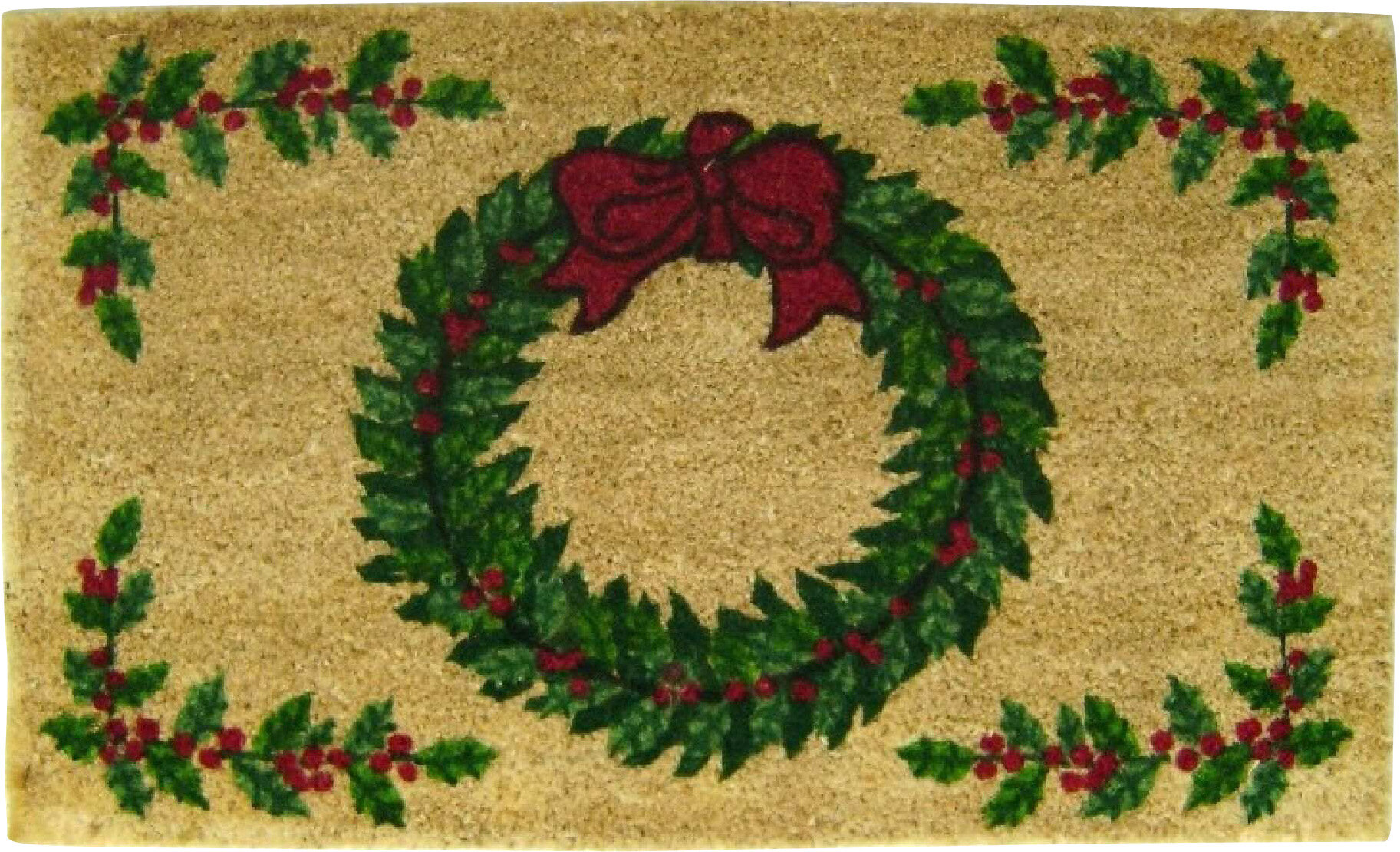 & Geo Crafts Christmas Wreath Doormat u0026 Reviews | Wayfair