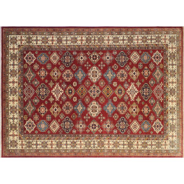 One-of-a-Kind Kazak Super Zee Hand-Knotted Red Area Rug by Noori Rug