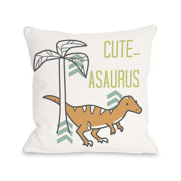 Cuteasaurus Dino Throw Pillow by One Bella Casa