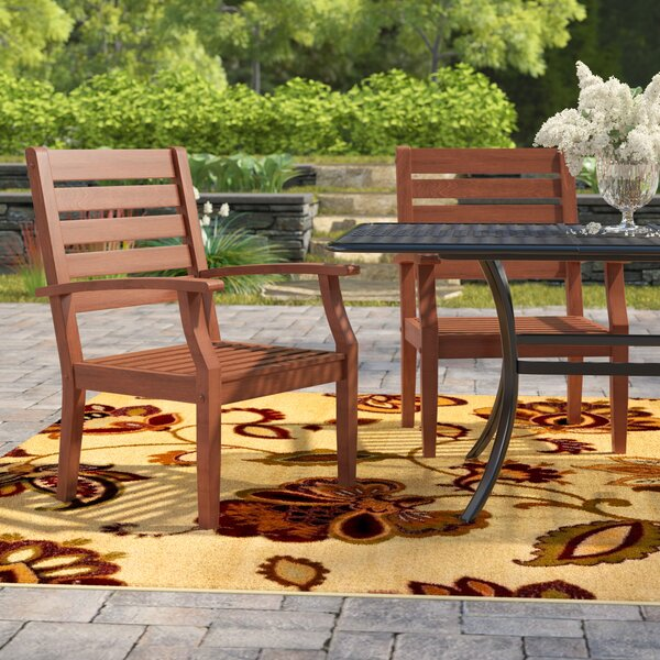 Hursey Patio Dining Chair (Set of 2) by Three Posts