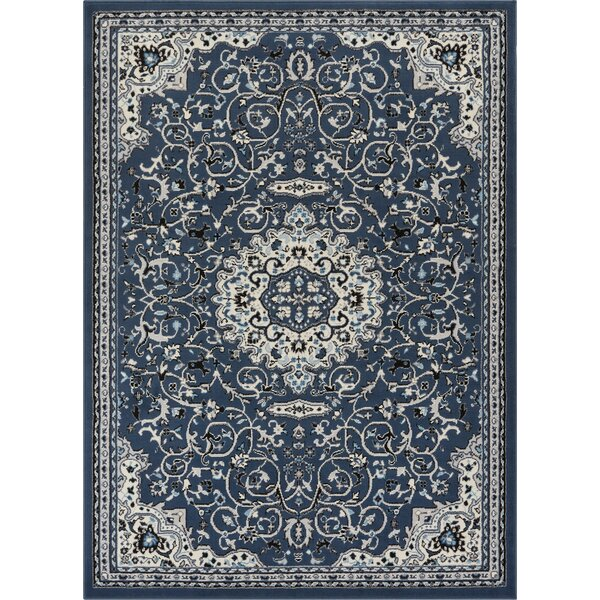 Persa Isfahan Medallion Blue Area Rug by Well Woven