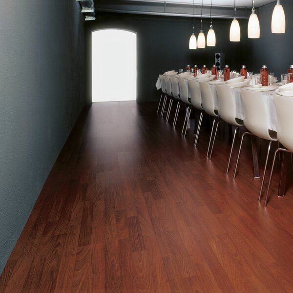 9 x 55 x 8mm Pine Laminate Flooring in Brasilian Cherry by Kronoswiss