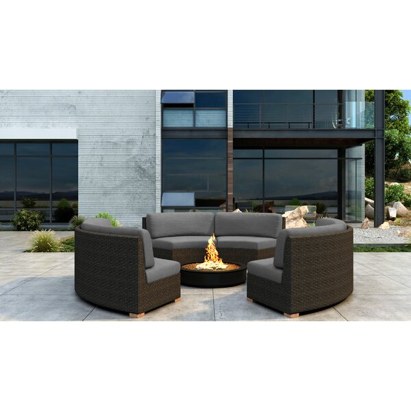 Glen Ellyn Sectional Seating Group with Sunbrella Cushion by Everly Quinn