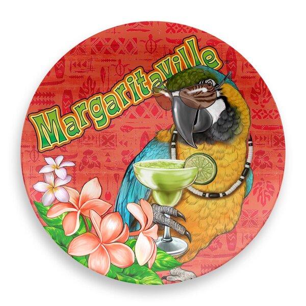 Margaritaville Parrot Round Melamine Platter by Margaritaville