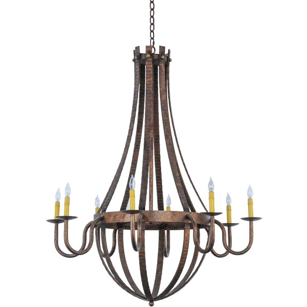 Suzan 8 - Light Unique / Statement Empire Chandelier by Millwood Pines Millwood Pines
