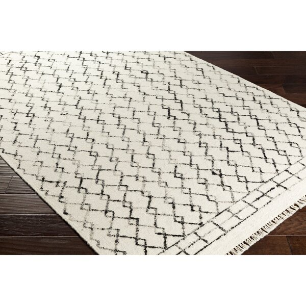 Boling Geometric Handwoven Light Gray Area Rug by Union Rustic