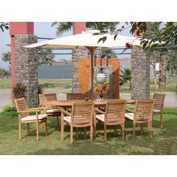 Sloat Luxurious 9 Piece Teak Dining Set By Rosecliff Heights