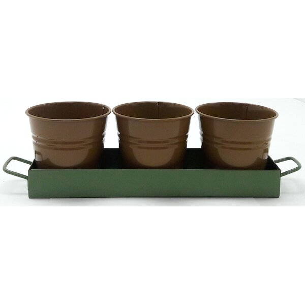 4-Piece Metal Pot Planter by Houston International