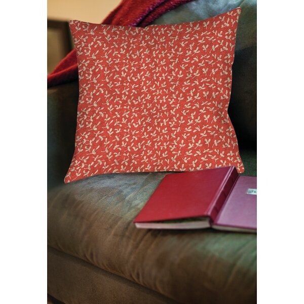 Dream Big Ditsy Florals Printed Throw Pillow by Manual Woodworkers & Weavers