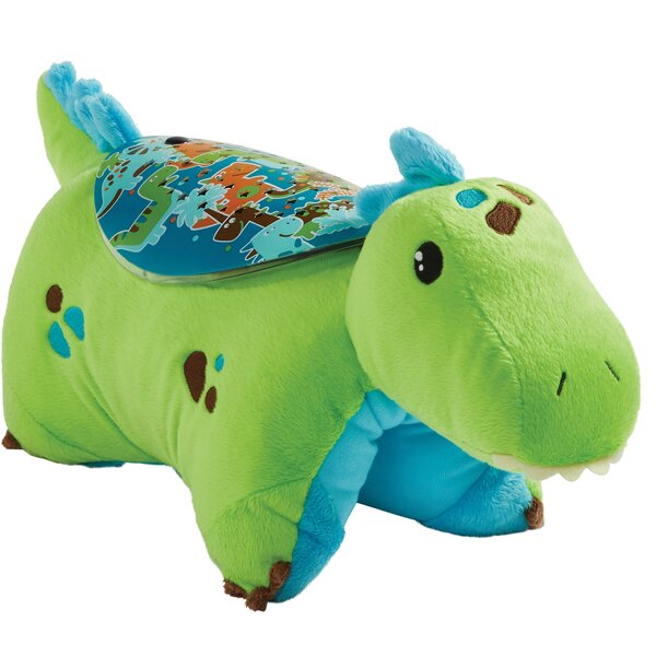 Sleeptime Lite Green Dinosaur Plush Night Light by Pillow Pets