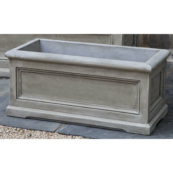 Matha Rectangular Cast Stone Planter Box by Darby Home Co