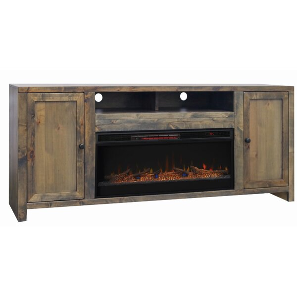 Lyla 84 TV Stand Electric Fireplace by Loon Peak