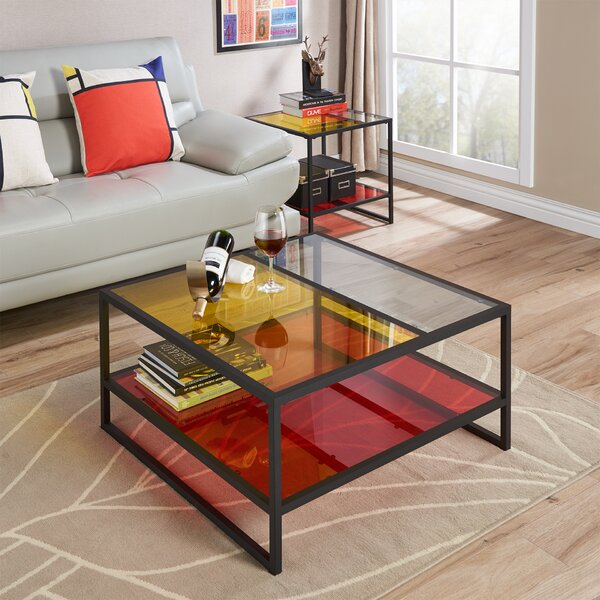 Leetsdale Contemporary Coffee Table with Magazine Rack by Latitude Run