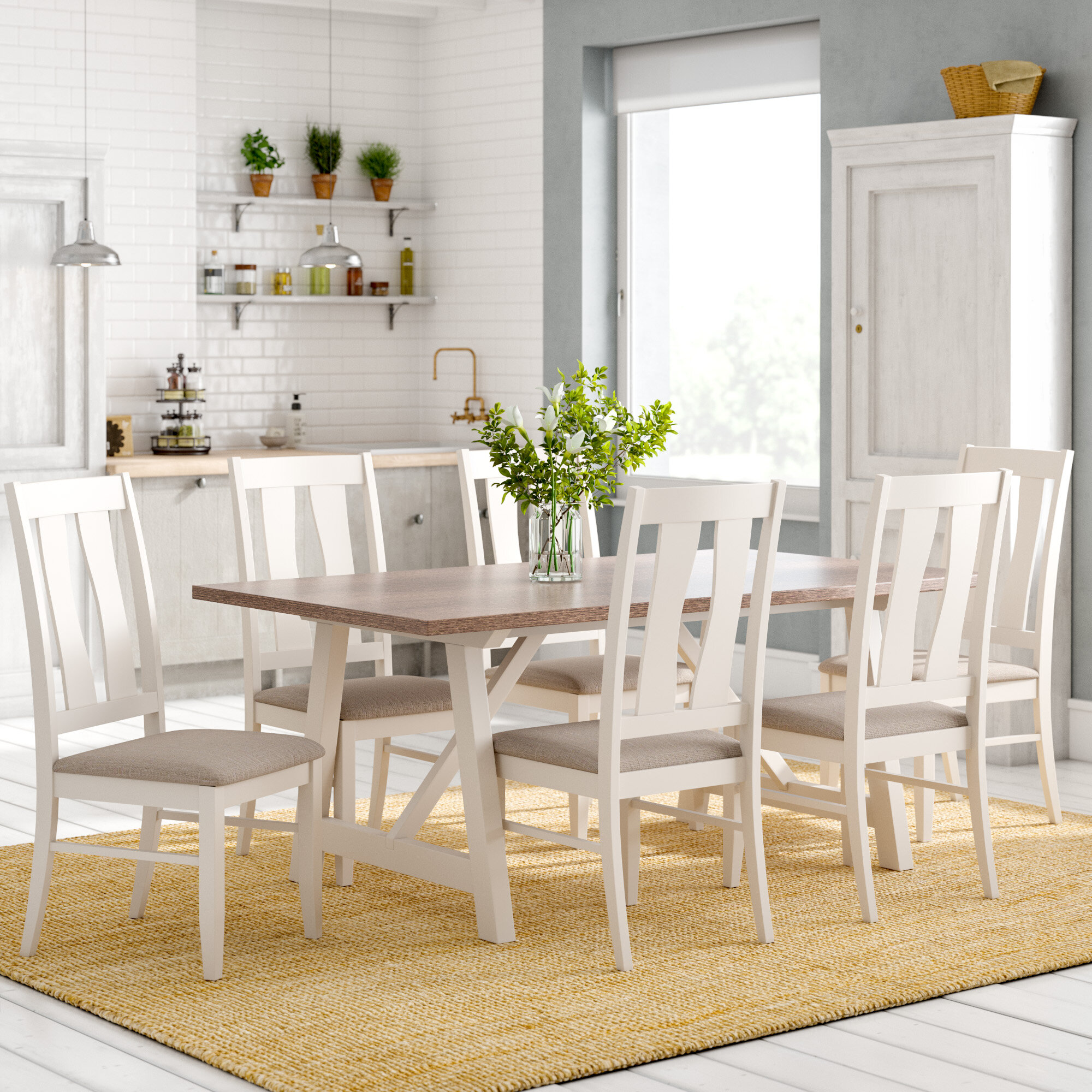 new concept bcf6a 8d2fc Lombardy Dining Table and 6 Chairs
