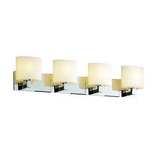 Reviews Luzerne 4-Light Vanity Light By Brayden Studio