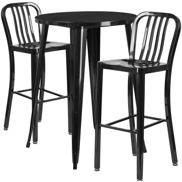 Avera 3 Piece Bar Height Dining Set by Latitude Run