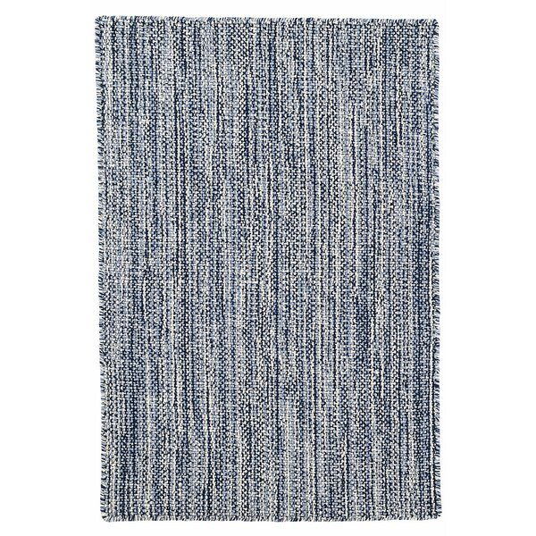 Bella Hand Woven Wool Navy Area Rug by Dash and Albert Rugs
