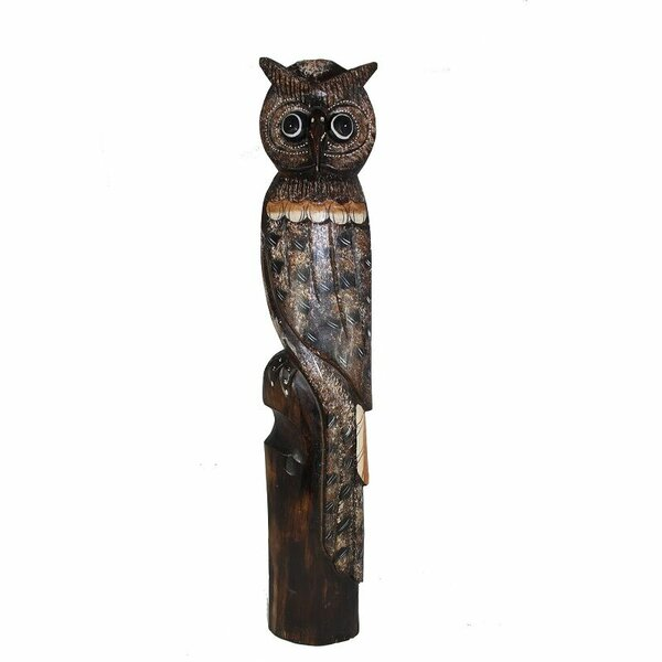 Wooden Standing Owl Statue by Union Rustic