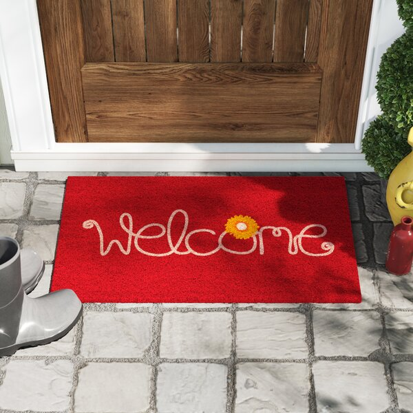 Krogman Flower Welcome Doormat by Winston Porter