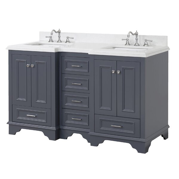 Nantucket 60 Double Sink Bathroom Vanity Set by Kitchen Bath Collection
