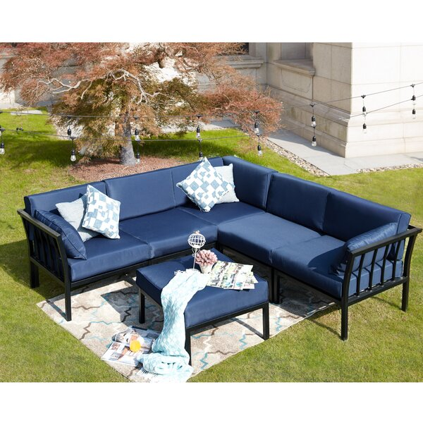 Overton 6-Piece Sectional Seating Group With Cushions By Alcott Hill by Alcott Hill 2020 Online