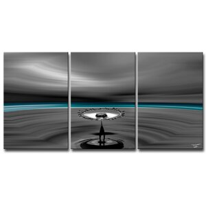 'Aqueous Trance I' by Tristan Scott 3 Piece Graphic Art on Wrapped Canvas Set by Ready2hangart