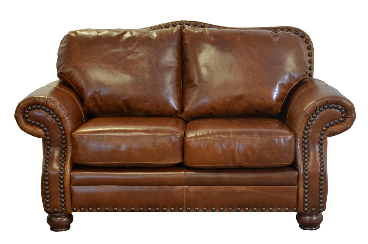Save 48 Off Parker Genuine Top Grain Leather Loveseat
