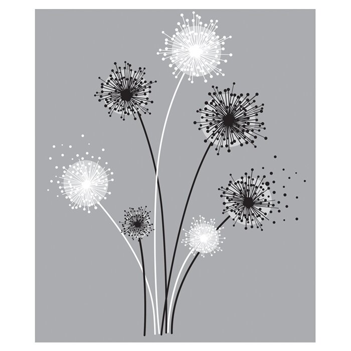 Deco Graphic Dandelion Giant Wall Decal  sc 1 st  Wayfair & Room Mates Deco Graphic Dandelion Giant Wall Decal u0026 Reviews | Wayfair