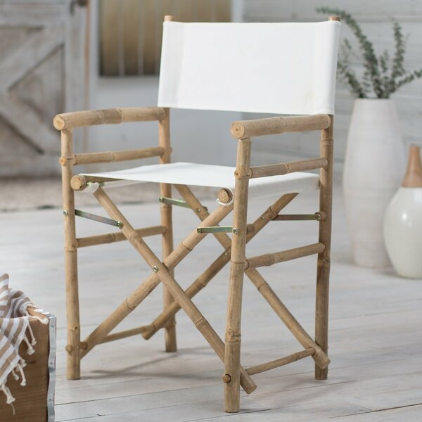 Jolicia Hand Crafted Outdoor / Indoor Bamboo Director Chair (Set of 2) by Beachcrest Home Beachcrest Home