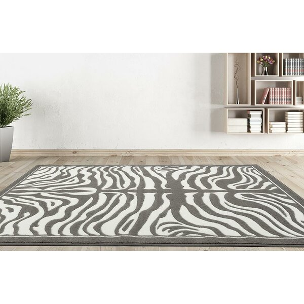 Creissant Gray Indoor/Outdoor Area Rug by Willa Arlo Interiors