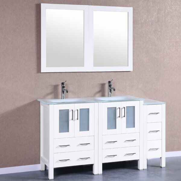 Danko 60 Double Bathroom Vanity Set with Mirror by Bosconi