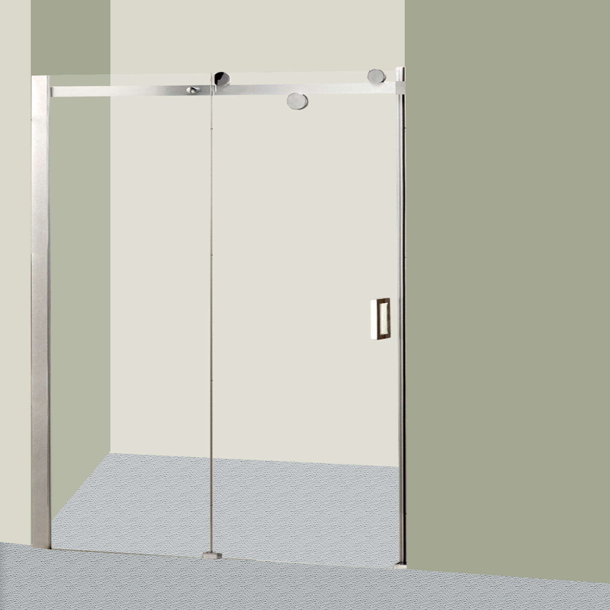 Gl 48 X 72 Single Sliding Frameless Shower Door