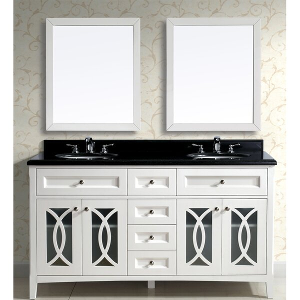 Modern 61 Double Vanity Set with Mirror by Dawn USA
