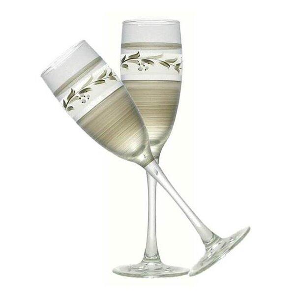 Vine Champagne Glass (Set of 2) by Golden Hill Studio