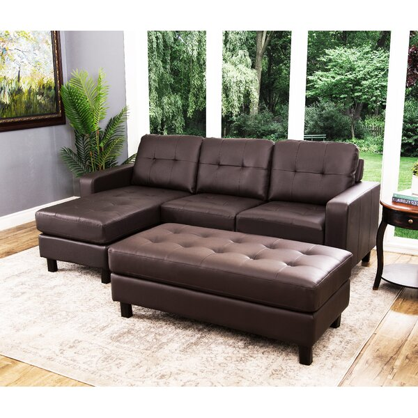 Closeout Oliver Reversible Modular Sectional with Ottoman by Breakwater Bay by Breakwater Bay