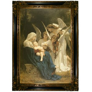 'Song of the Angels' by William Adolph Bouguereau Framed Painting Print by Historic Art Gallery