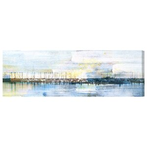 'Boats at Shore' Painting Print on Wrapped Canvas by Oliver Gal