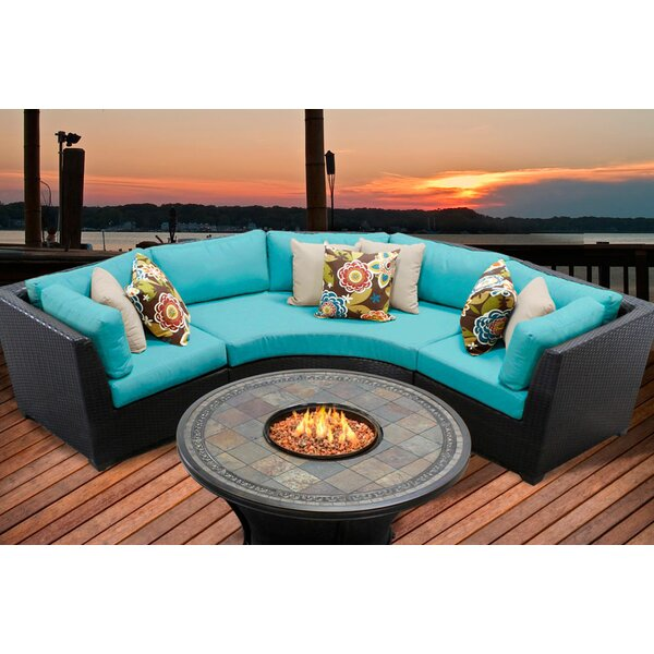 Tegan 4 Piece Sectional Seating Group with Cushions by Sol 72 Outdoor Sol 72 Outdoor