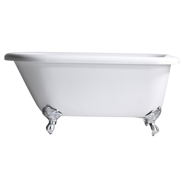 Hotel Acrylic Classic 53 x 30 Freestanding Soaking Bathtub by Baths of Distinction
