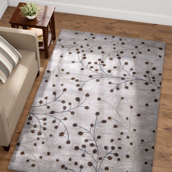 Middlebrooks Hand-Tufted Gray Area Rug by Red Barrel Studio