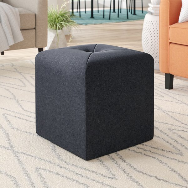 Otani Cube Ottoman by Ebern Designs
