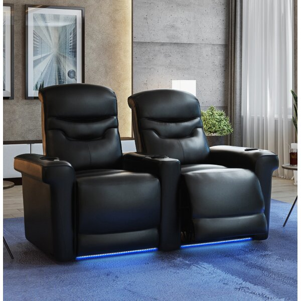 Leather Home Theater Loveseat (Row Of 2) By Orren Ellis