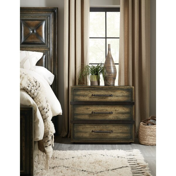 American Life-Crafted 3 Drawer Nightstand by Hooker Furniture