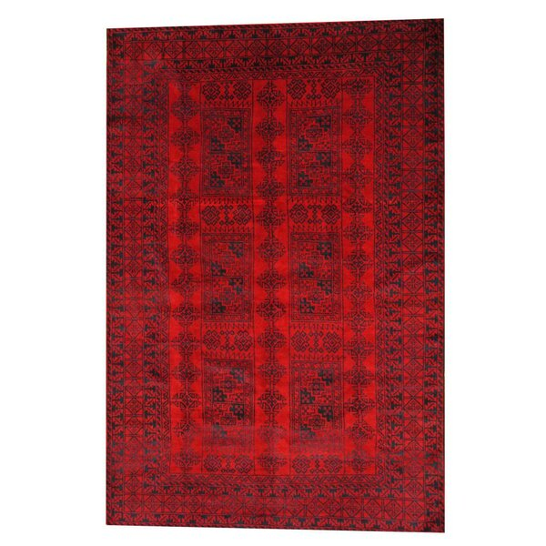 Prentice Red/Black Area Rug by Isabelline