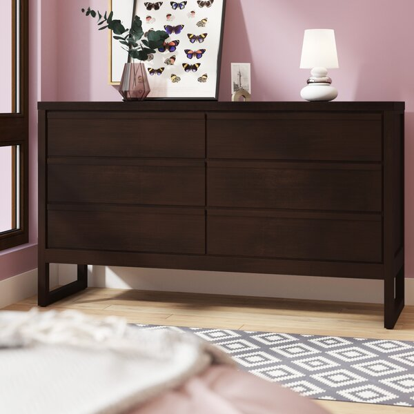 Lambertville 6 Drawer Double Dresser by Wade Logan